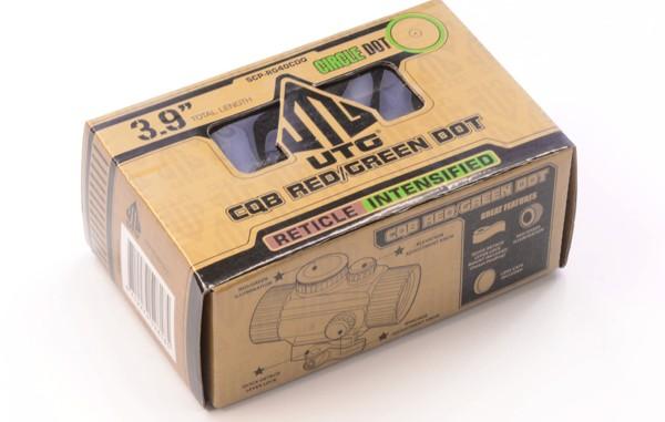 коллиматор LEAPERS UTG 1х30 Compact, закрытый на Weaver, подсветка круг с точкой     50 шт./кор. quarta-hunt.ru