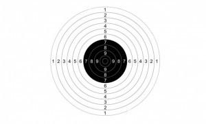 Мишень №9 для пневматических пистолетов 10 м (50 шт./уп.) quarta-hunt.ru
