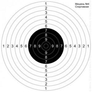 Мишень для пристрелки ружей №4 спортивная (500шт./уп.) quarta-hunt.ru