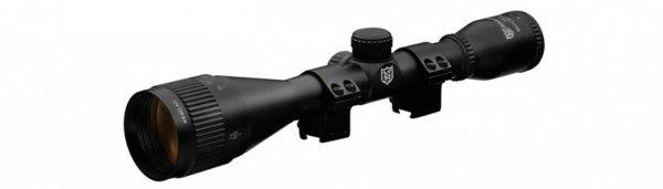 Прицел Nikko Stirling серии MOUNTMASTER 4x40 AO, halfmil-dot, без подсветки, 2 кольца 11мм. quarta-hunt.ru