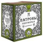 """Патроны охотничьи дробовые СКМ 16/70, 28гр., """"Дробь"""" №0000"""