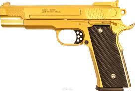 Пистолет софтэйр GALAXY G.20GD золотистый пружинный