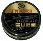 Пульки RWS R10 Match винтовочные кал.4,5 мм 0,53 г (500 шт./бан.)