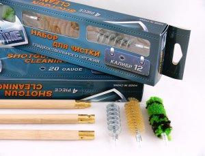 Набор для чистки ShotTime кал.12, для гладк.оружия, деревянный шомпол