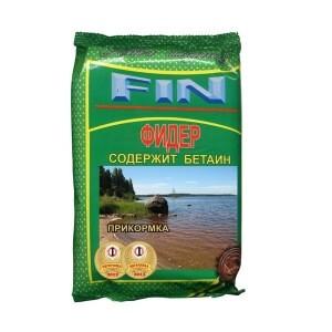 """Прикормка FIN """"Фидер"""" цвет натуральный 0,7 кг, конопля"""
