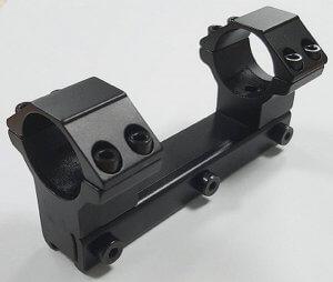 Кронштейн моноблок с кольцами 25,4 мм на планку 11-12 мм