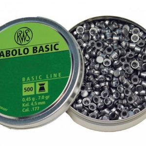 Пульки RWS Diabolo Basic 4,5 мм, 0,45г (500 шт./бан.)