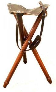 стульчик-тренога, кожа+дерево, высота 55 см